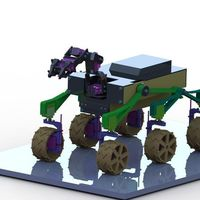 Small RC MARS Rover Mk II 3D Printing 96009