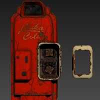 Small Nuka Cola Vending Machine Fallout 4 3D Printing 96082