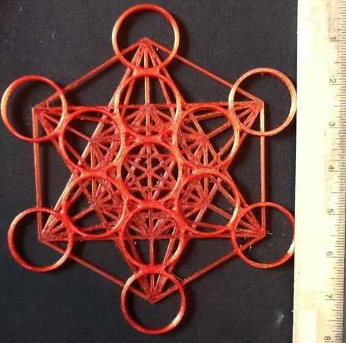 Metatron's Cube - 200MM 3D Print 96182