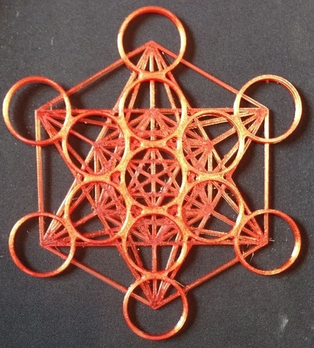 Metatron's Cube - 200MM 3D Print 96183