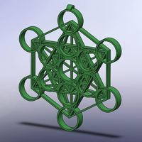 Small Metatron's Cube - Mini 3D Printing 96184