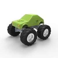 Small 3D Monster truck 3D Printing 96191