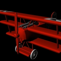 Small Fokker Tri-plane (Red Baron) 3D Printing 96253