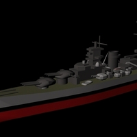 Small German battleship Scharnhorst 3D Printing 96260