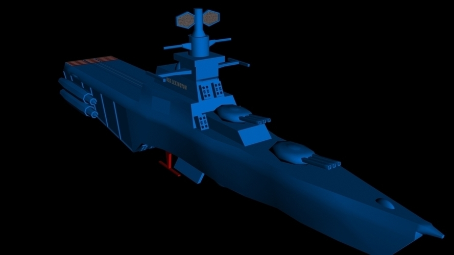 USS Lexington on stand 3D Print 96288