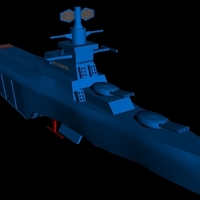 Small USS Lexington on stand 3D Printing 96288