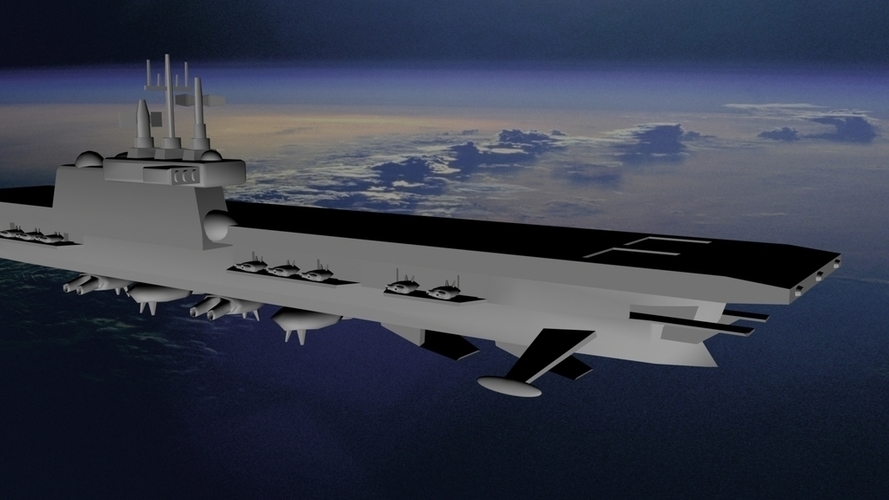 HMS Eagle - Royal Navy (Orbital) 3D Print 96294