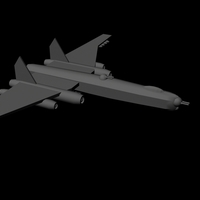 Small Super Lancaster Bomber 3D Printing 96308