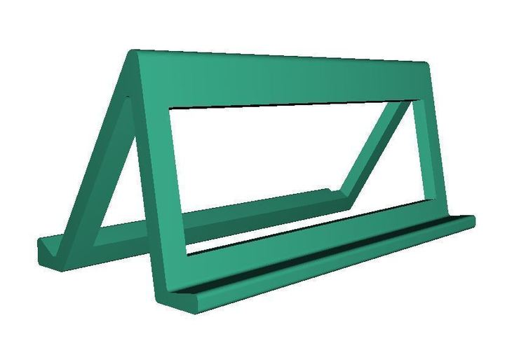 horizontal simple smartphone stand 3D Print 96405