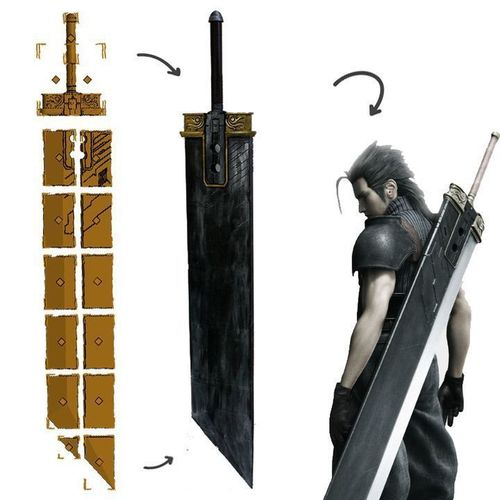 Final Fantasy VII - Buster Sword (Cloud, Zack, Angeal) 3D Print 96425