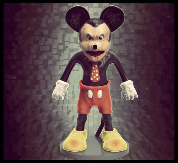 Medium SCARY MOUSE 3D Printing 96491