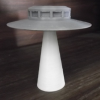 Small Ufo on Light Beam. 3D Printing 96523