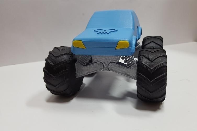 3d Printed 3d Monster Truck By Peer Meller Pinshape