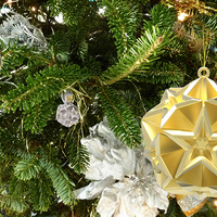 Small Geometric Stars Christmas Tree Ornament (Large)      3D Printing 9669