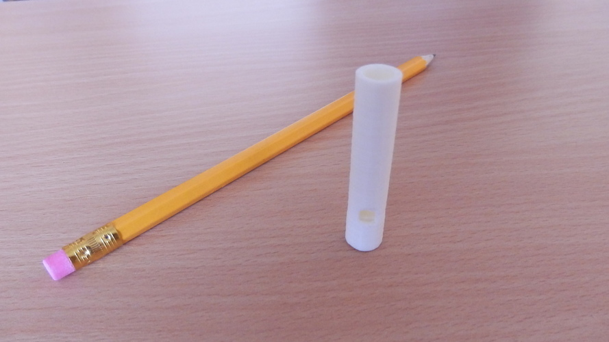 Whistle, ruler, screw-pencase 3D Print 96690