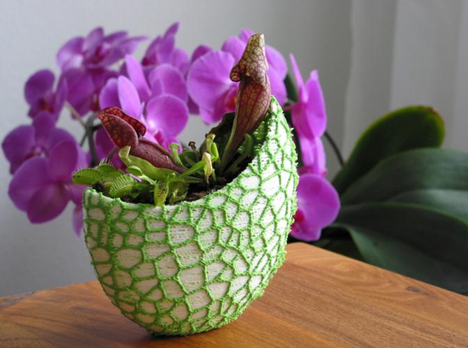 Organic flower pot / Voronoi Vase (2-color) 3D Print 96799