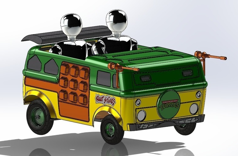 TMNT Party Wagon XXL Red Bull SoapBox Atlanta 2015 3D Print 96843