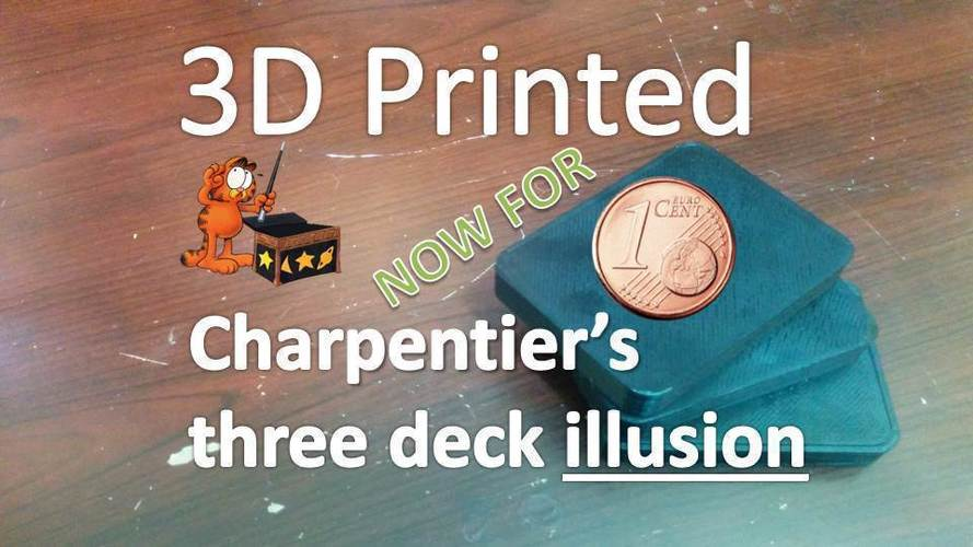 Charpentier's three deck illusion - International Edition 3D Print 96850