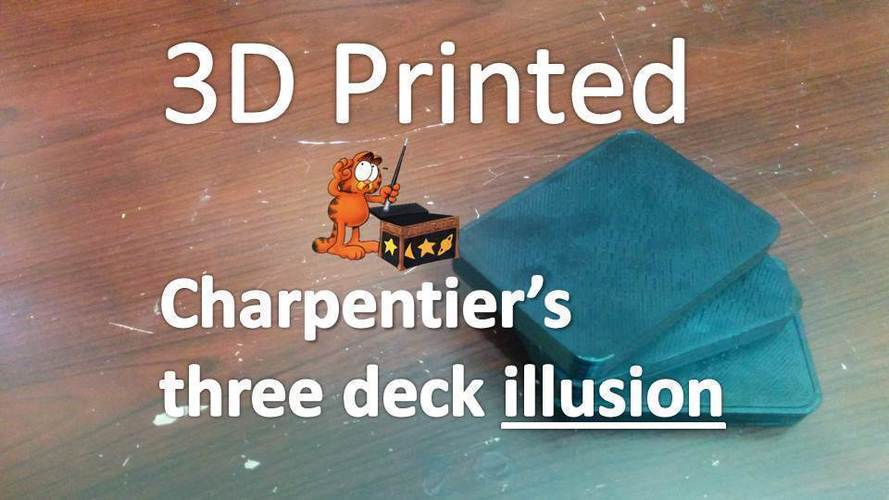 Charpentier's three deck illusion 3D Print 96851