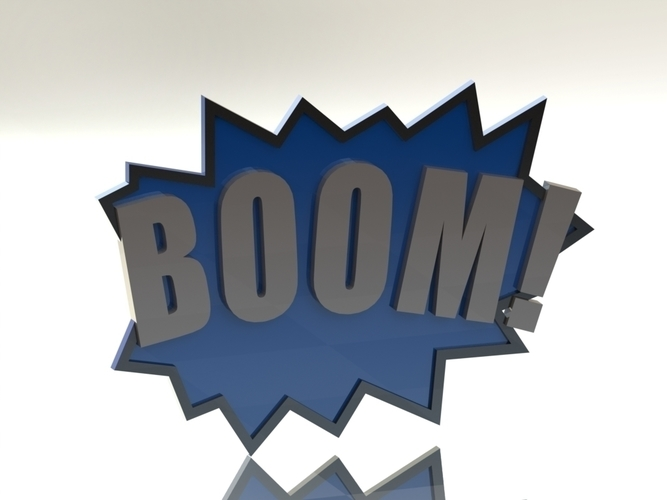 BOOM! Fighting Action Word 3D Print 96869