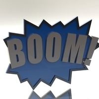 Small BOOM! Fighting Action Word 3D Printing 96869