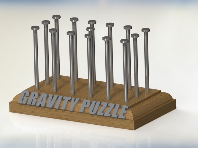 "Gravity Puzzle "" King of Random"" 3D Print 96873"