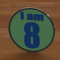 Small I am (1-90) Birthday Button 3D Printing 96890