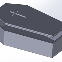 Small PET CASKET (COFFIN) 3D Printing 96909