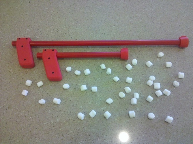 Mini Marshmallow Gun & Rifle 3D Print 96933