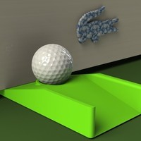 Small Golfer's Doorstop (Putting Aid) 3D Printing 97000