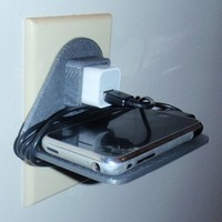 Small WALL OUTLET CELLPHONE HOLDER (IPHONE & IPOD) 3D Printing 97019