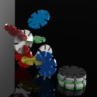Small Lockable Poker Chips 3D Printing 97037