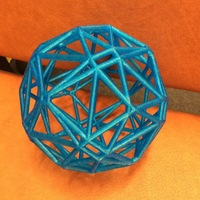 Small Polyhedron arising from hyperbolic tessellation 3D Printing 97153
