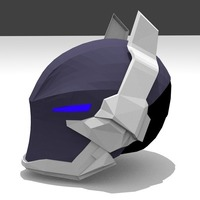 Small Arkham Knight Styled Helmet 3D Printing 97198