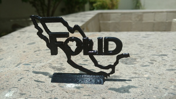Medium FOLID Logo 3D Printing 97229