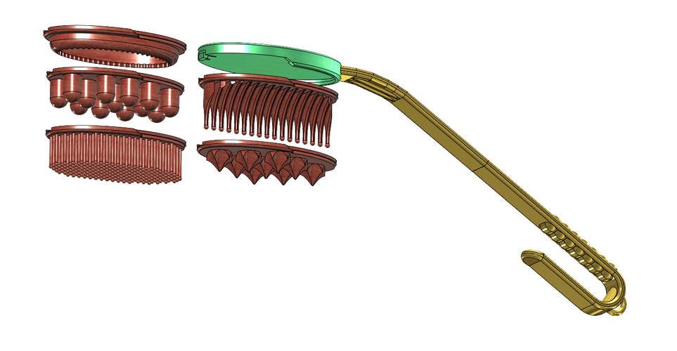 ( AIO ) BODY CARE LONG HANDLE BRUSH/COMB ETC..... SETS 3D Print 97292