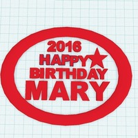 Small Happy Birthday Mary 3D Printing 97295