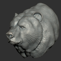 Small Grizzly bear bust 3D Printing 97401