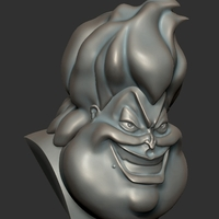 Small Ursula Disney head 3D Printing 97405