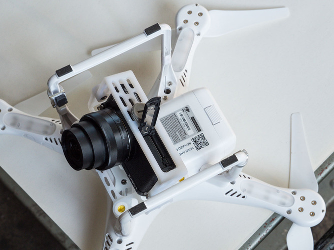 DJI Phantom 2, Camera mount for Panasonic GM1 3D Print 97420