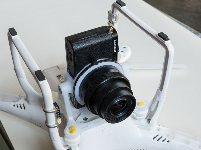 DJI Phantom 2, Camera mount for Panasonic GM1 3D Print 97425