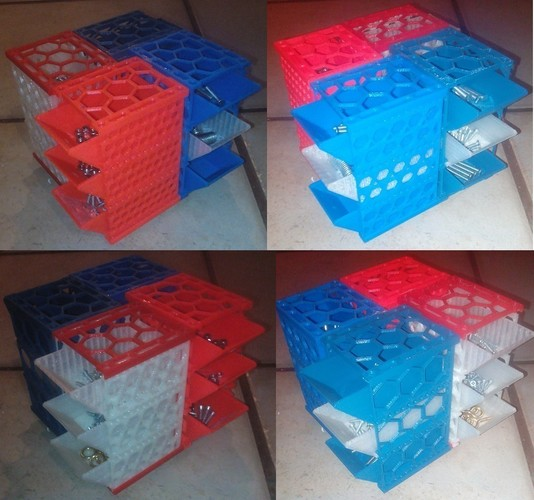 Modular Boxes for Nuts, Bolts and Screws (all bits and bobs) 3D Print 97458