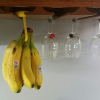 Small Banana Hanger For Wine Glass / Stemware Rack 3D Printing 97637
