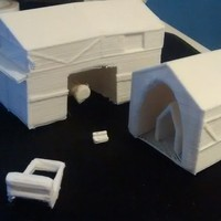 Small Age of Empires 2 Siege Workshop 3D Printing 97676
