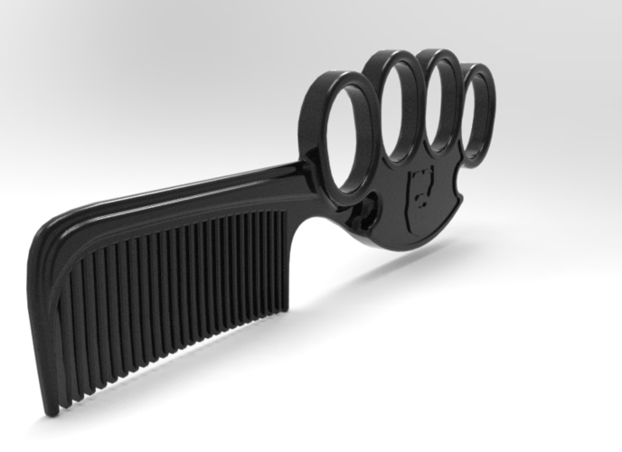 The Knuckled Comb – A  Beard Comb 3D Print 97762