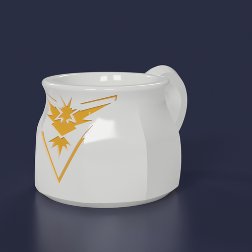 Pokemon Go Team Instinct 8oz Mug 3D Print 97773