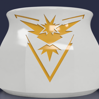 Small Pokemon Go Team Instinct 8oz Mug 3D Printing 97774