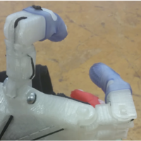 Small OTAPH - Opposable Thumb add-on for Prosthetic Hands 3D Printing 97801