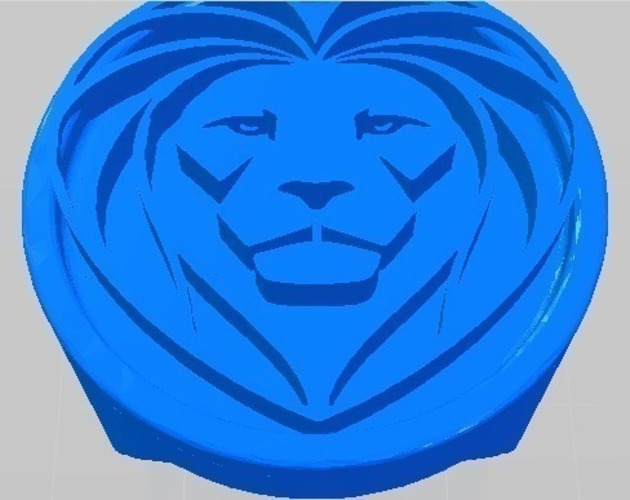 Royal Ring - Lion Head 3D Print 97812