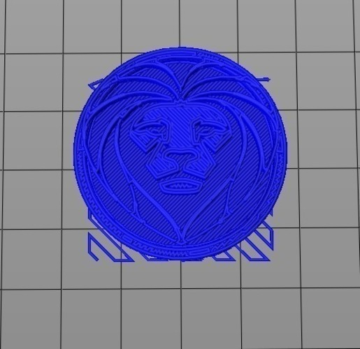 Royal Ring - Lion Head 3D Print 97813